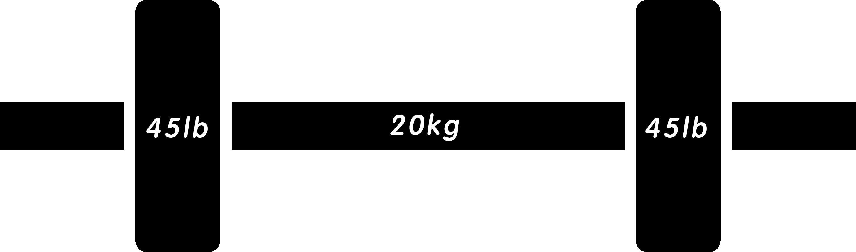 バーベル135lb(ポンド)