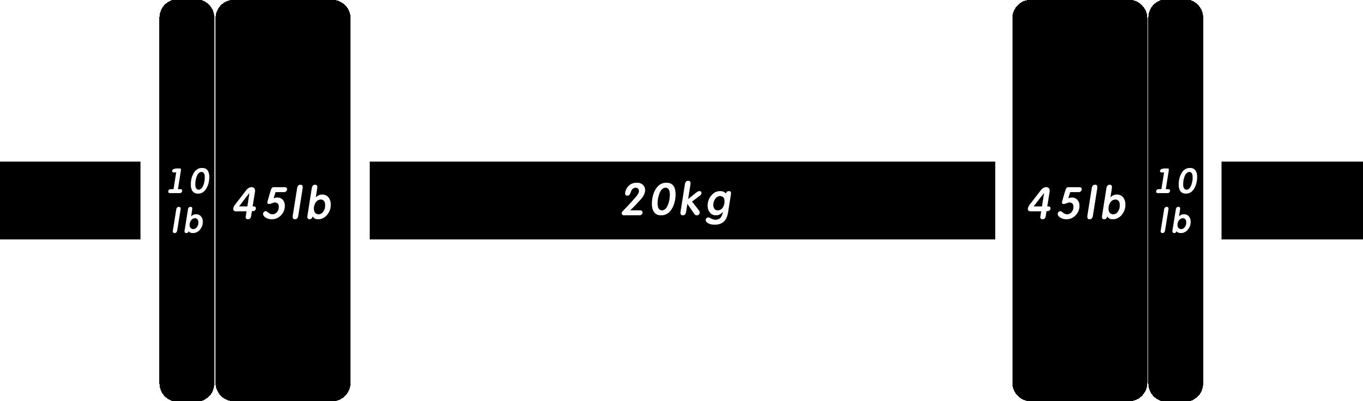 バーベル155lb(ポンド)
