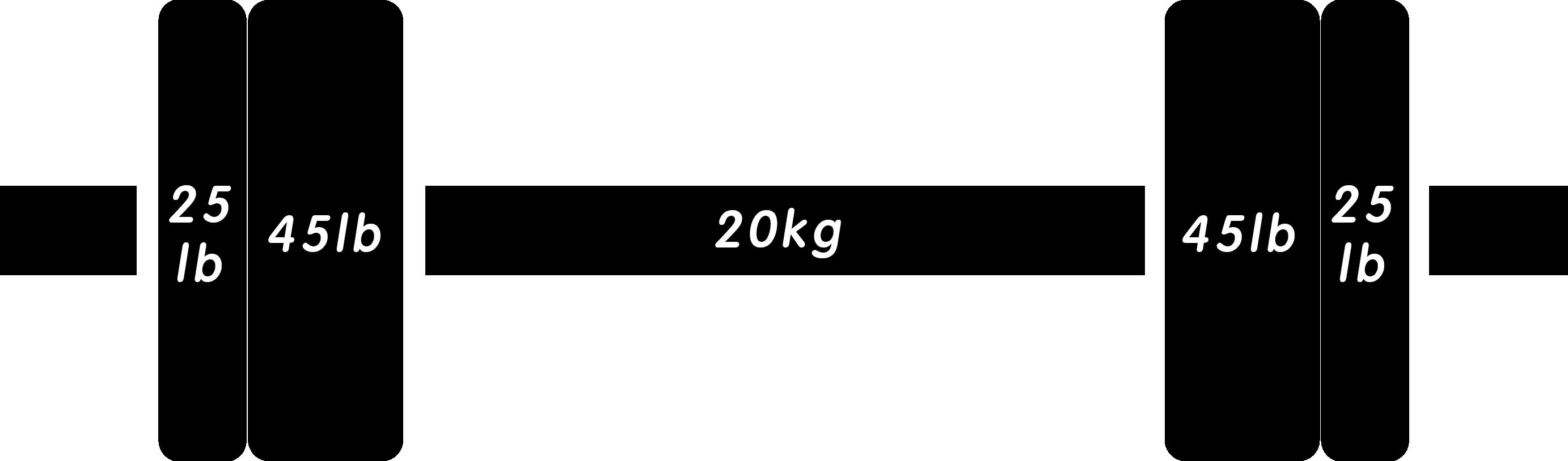 バーベル185lb(ポンド)