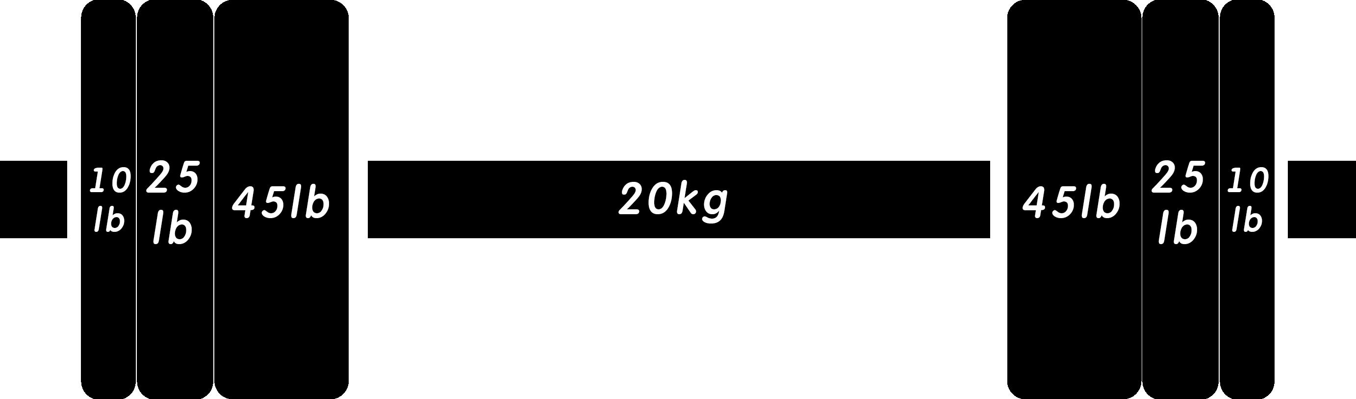 バーベル205lb(ポンド)