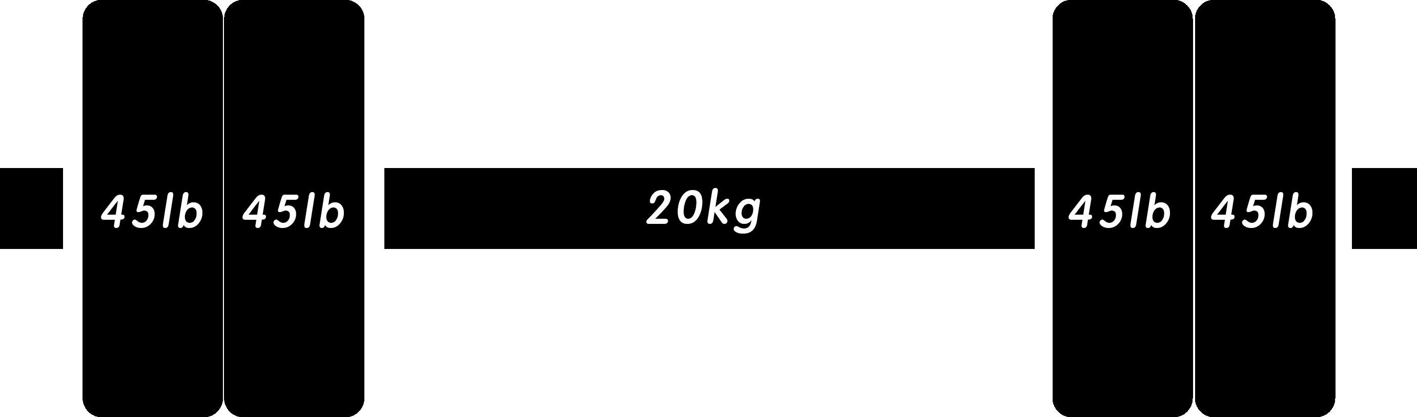 バーベル225lb(ポンド)