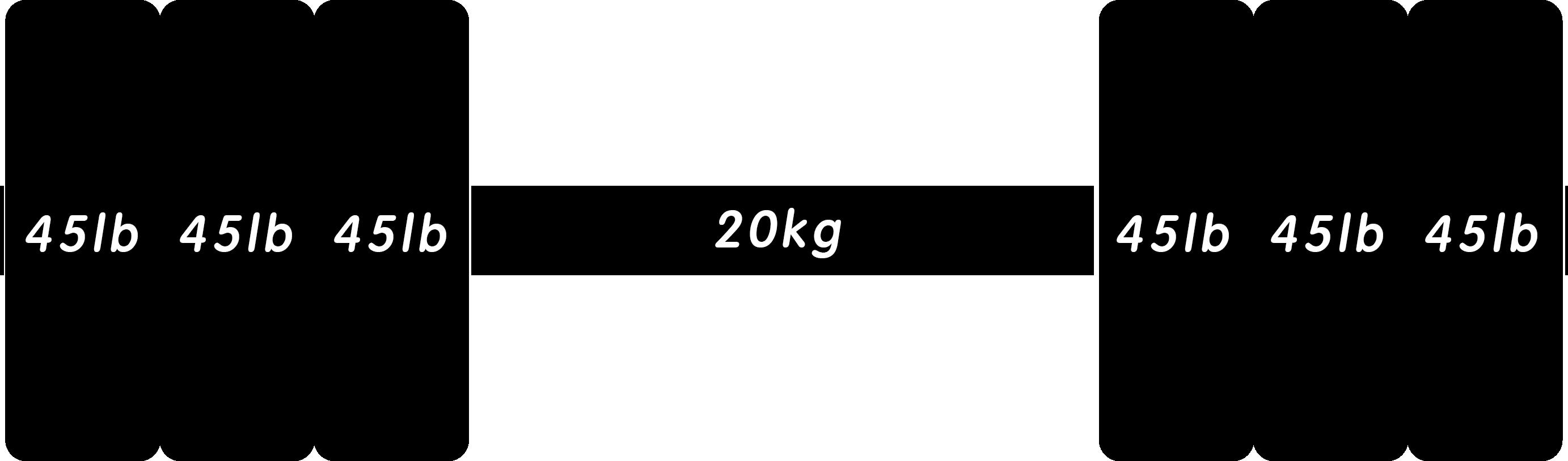 バーベル315lb(ポンド)