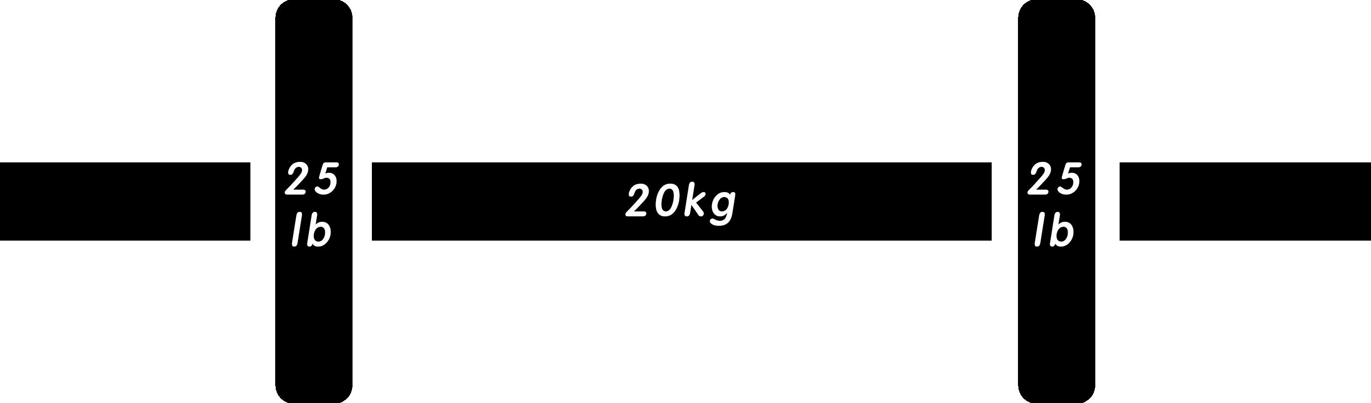バーベル95lb(ポンド)